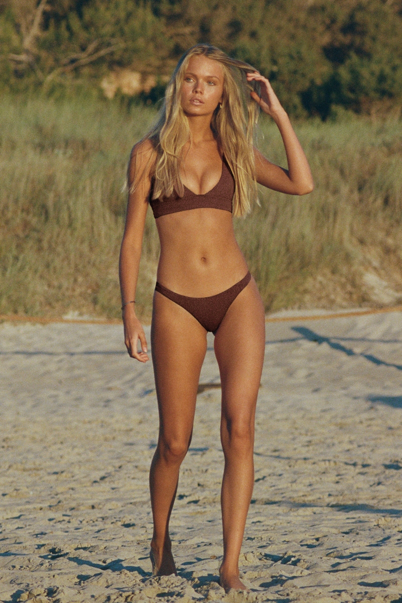 Vitamin A Vintage Brown EcoRib California High Leg Bottom, one of the Best Brazilian Bikinis and Where To Find Them