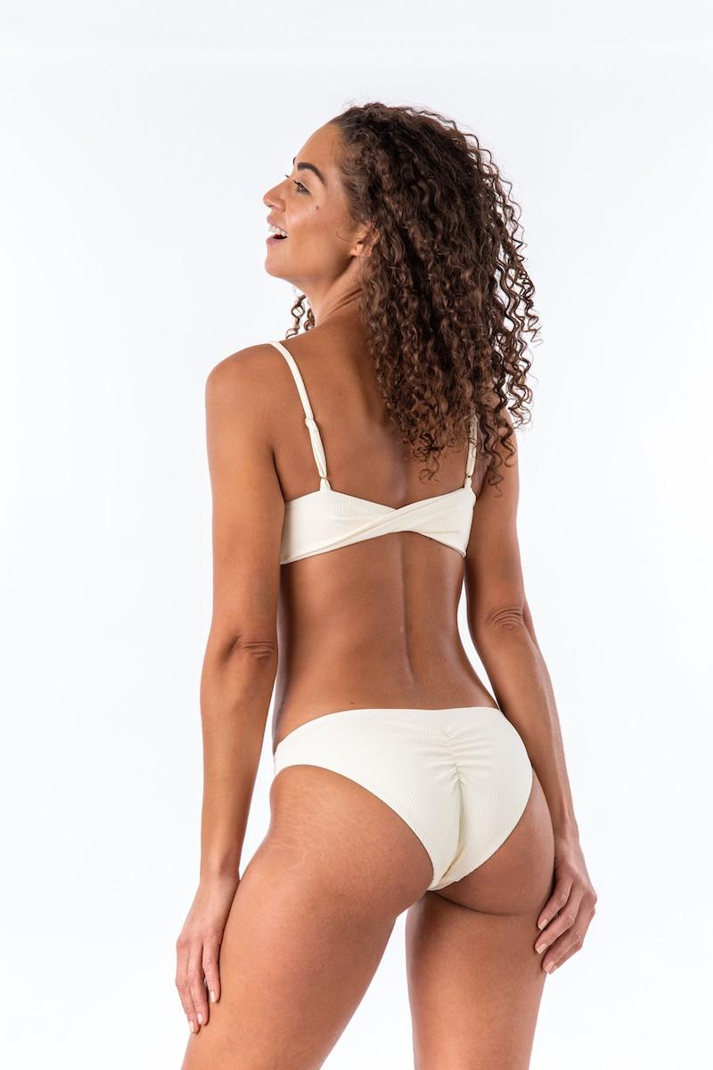 Bromelia Coconut Ribbed Bonito Bikini Top