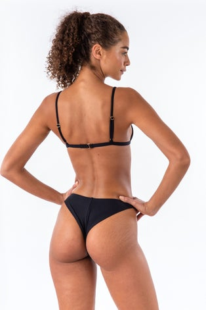 Bromelia Midnight Ribbed Valentina Bikini Bottom