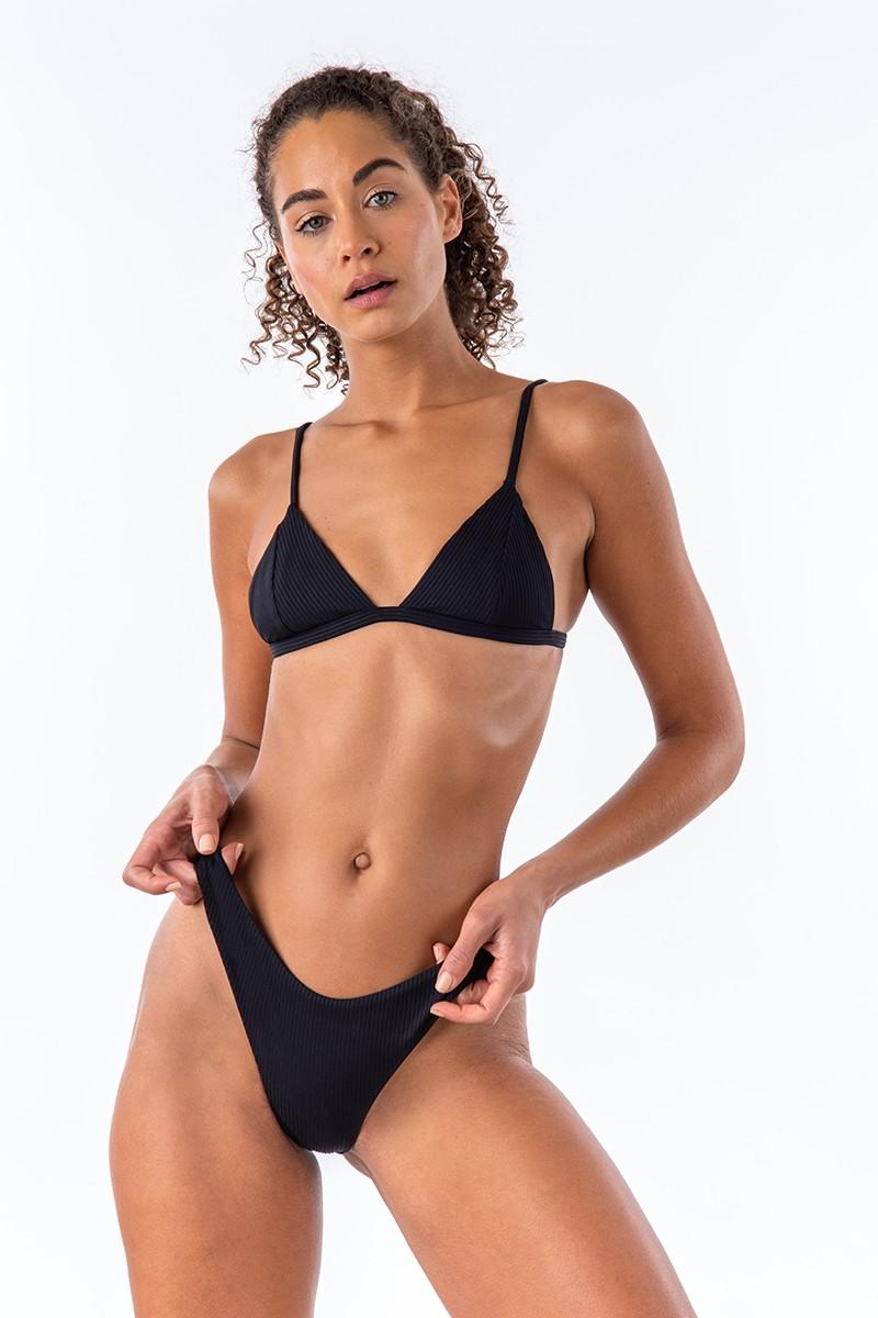 Bromelia Midnight Ribbed Valentina Bikini Top