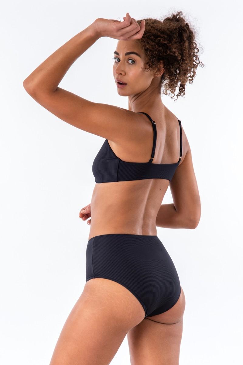 Bromelia Midnight Ribbed Vivianne Bikini Bottom
