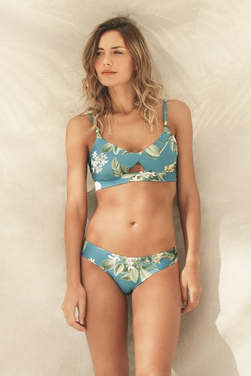 Kibys Aqua Flora Sarah Bralette Top