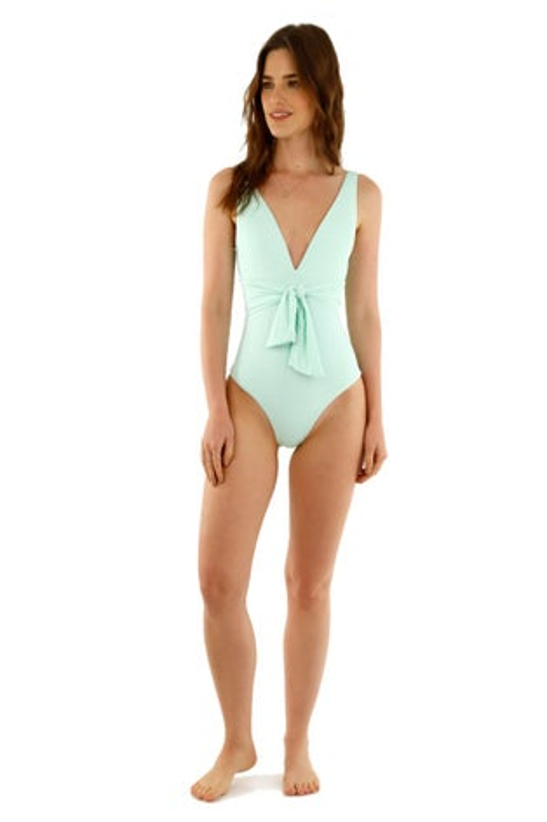 Kibys Mint Emma Deep V One Piece Swimsuit