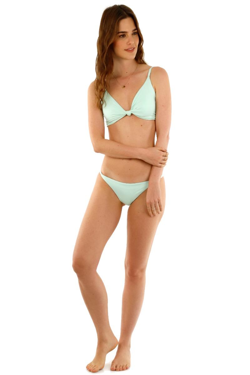 Kibys Mint Lana Knot Bikini Top
