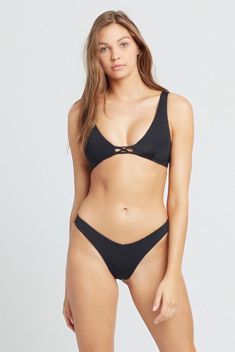 L*Space Black Cabana Bitsy Bikini Bottom
