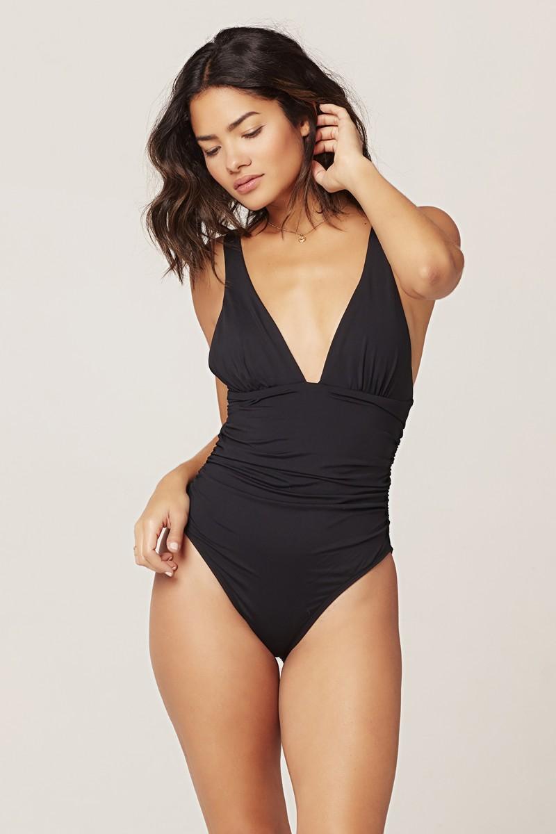 L*Space Black Sydney One Piece Swimsuit