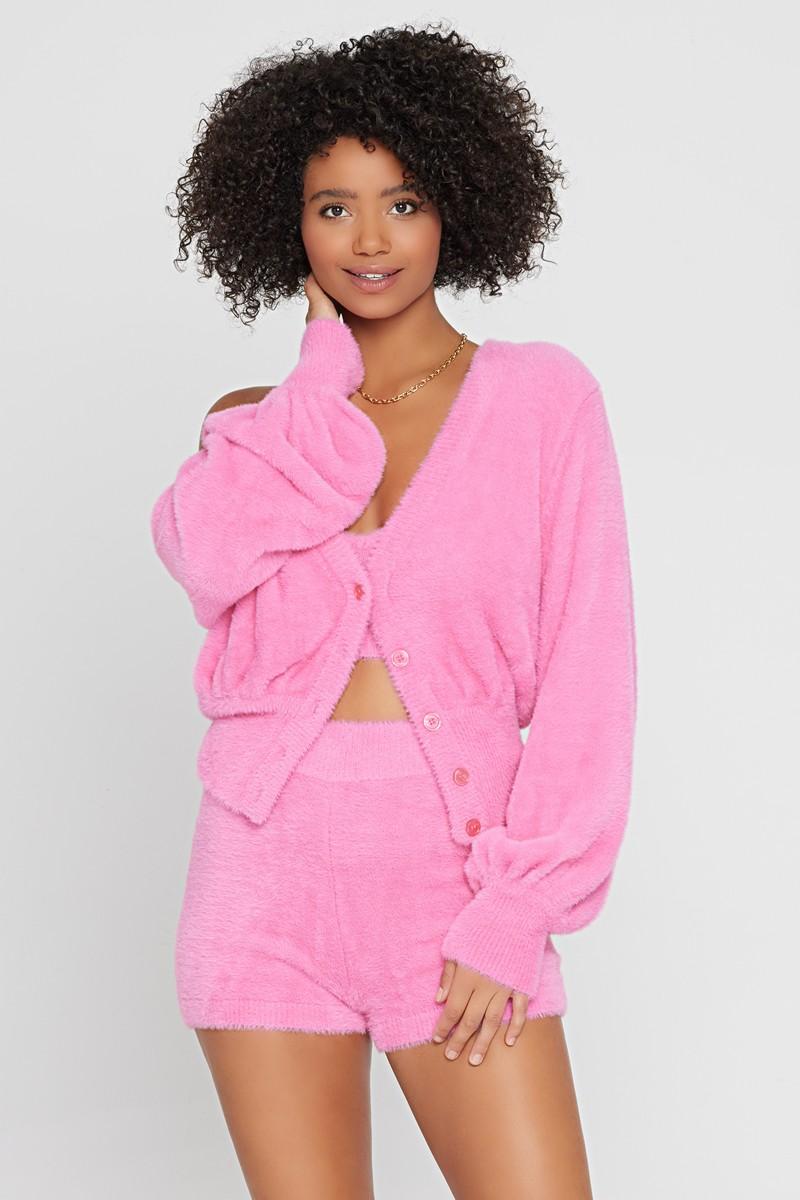 L*Space Pink Bubblegum Daydreamin' Cardigan