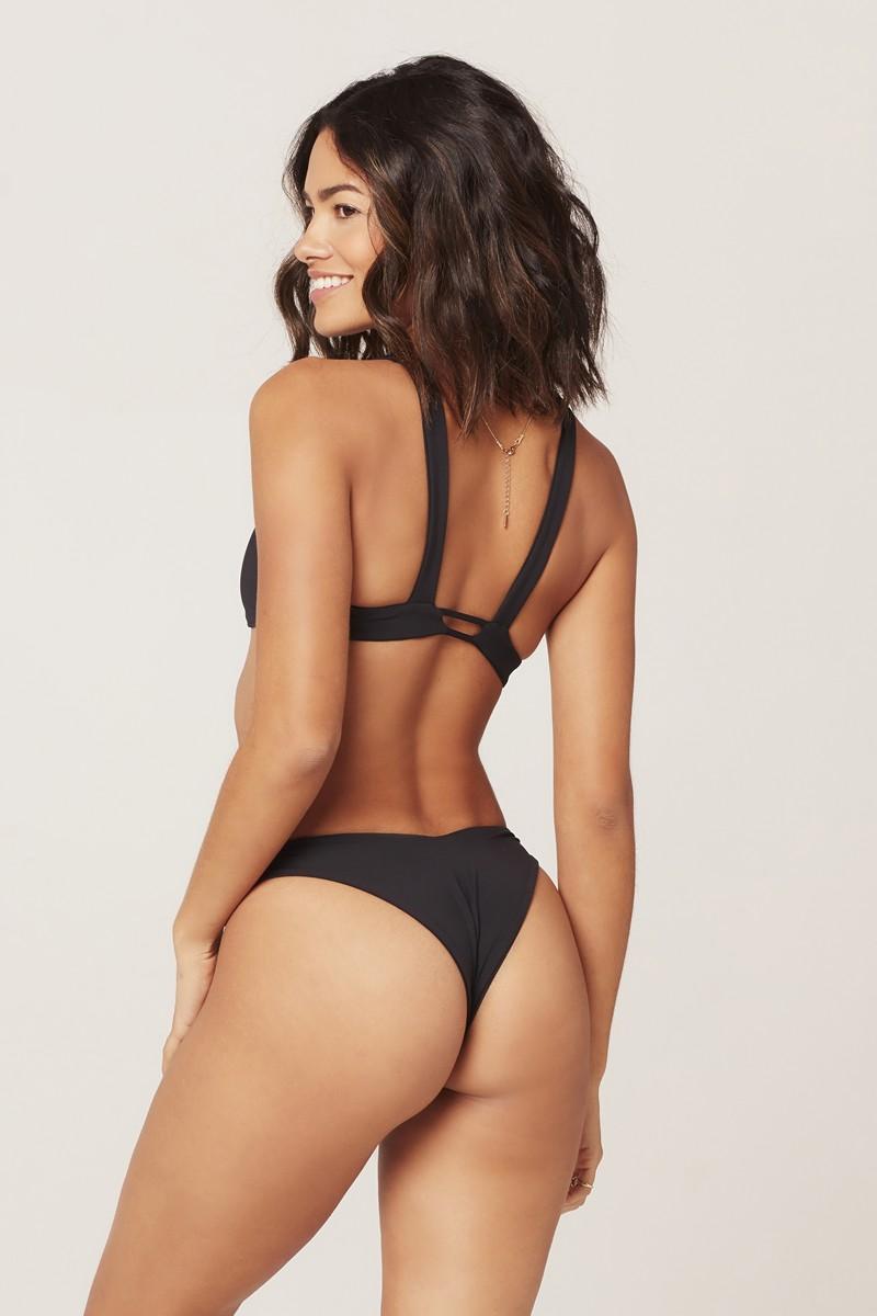 L*Space Cabana Bitsy Bikini Bottom in Black