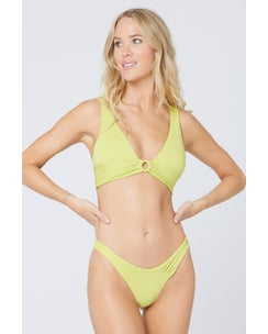 L*Space Eco Chic Repreve Apple Green Fisher Top