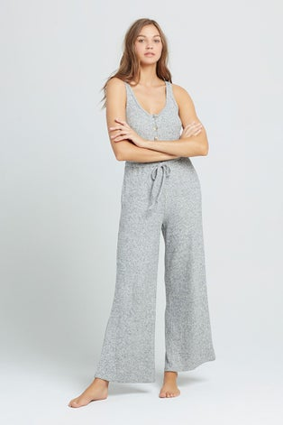 L*Space Head In The Clouds Ribbed Jumpsuit