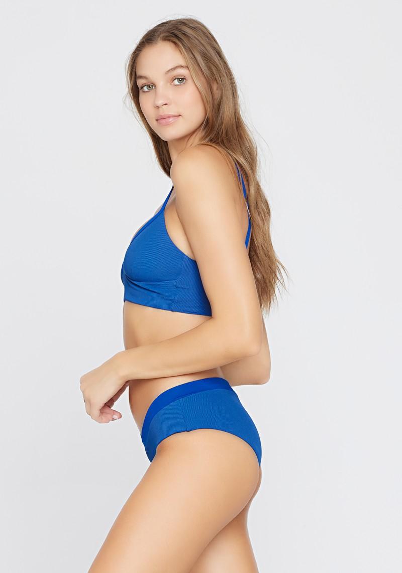 L*Space Ribbed Indigo Vera Bikini Top