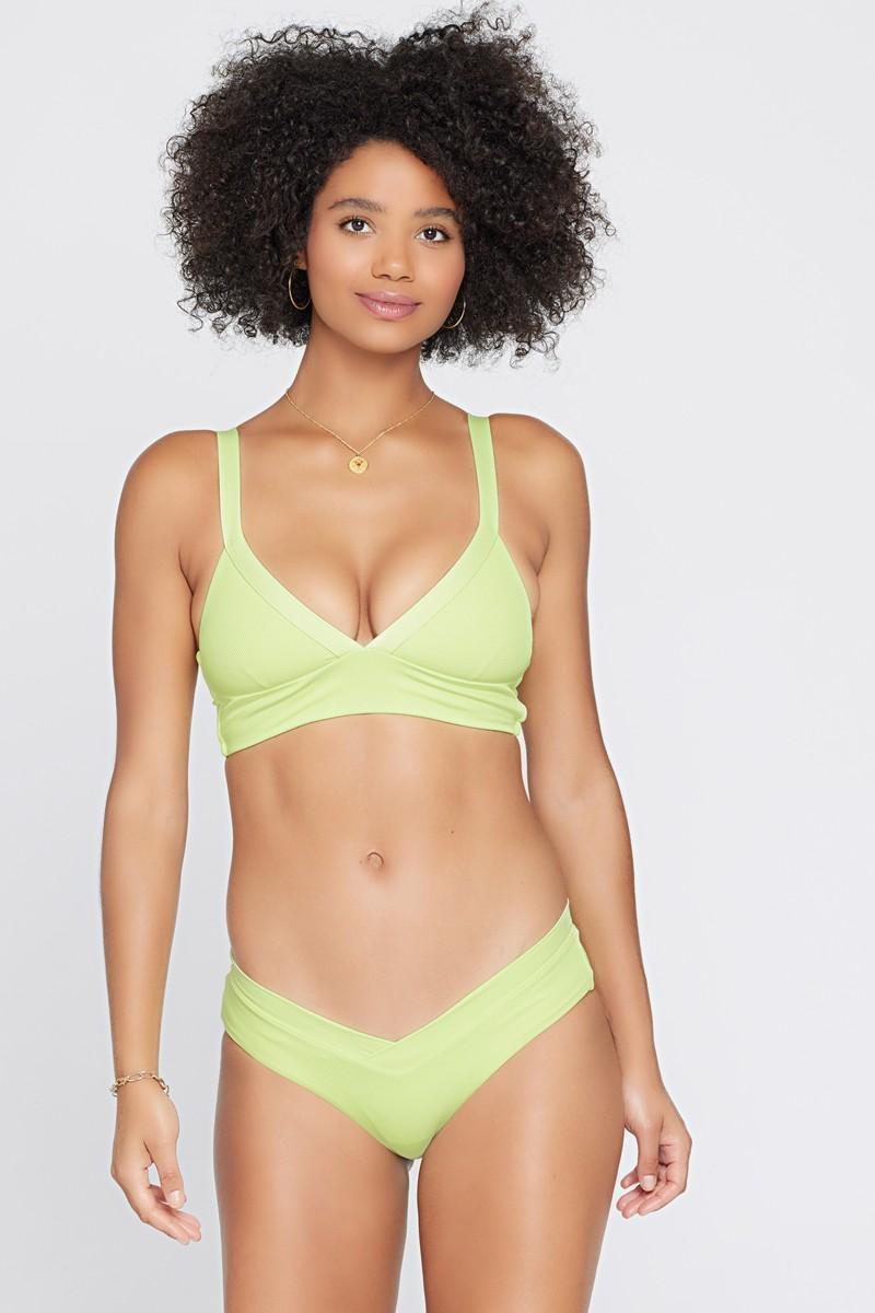L*Space Ribbed Mojito Pratt Bikini Bottom