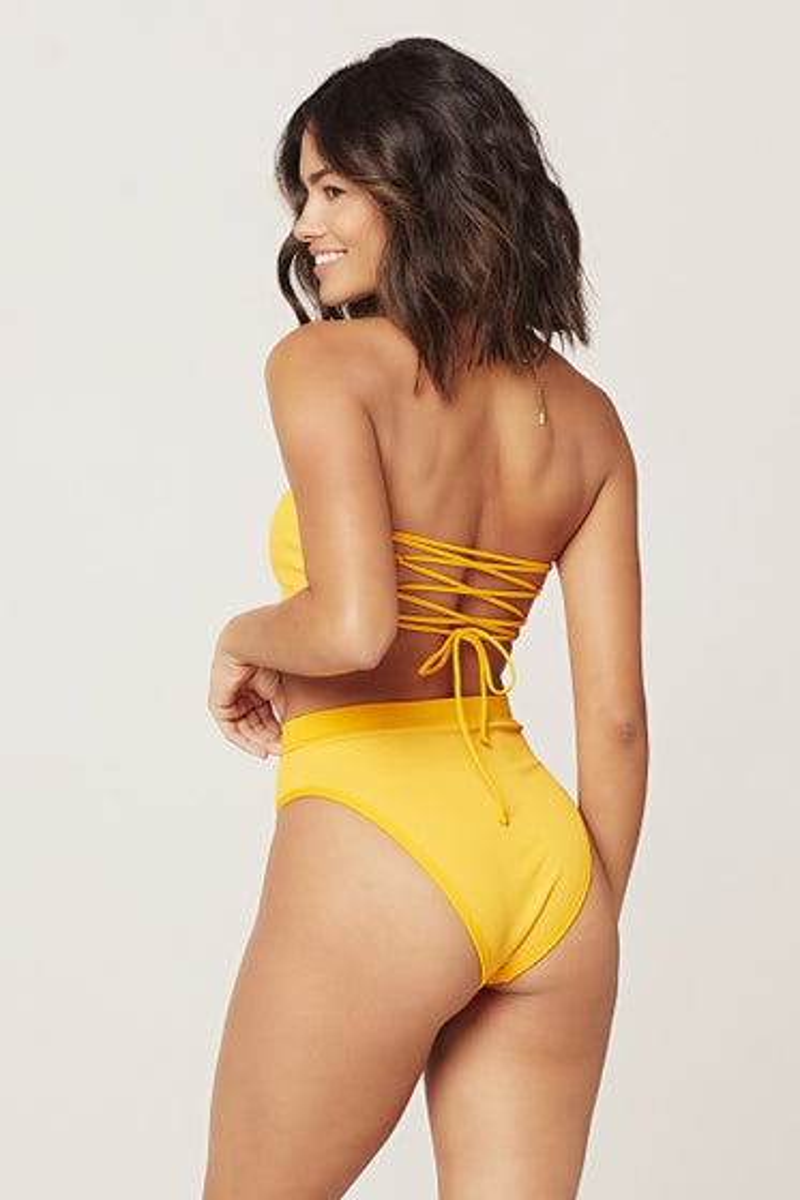 L*Space Ribbed Frenchi Bitsy Bikini Bottom