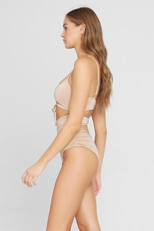 L*Space Shimmer Champagne Rumi One Piece