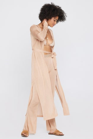 L*Space Shimmer Champagne Starlet Duster