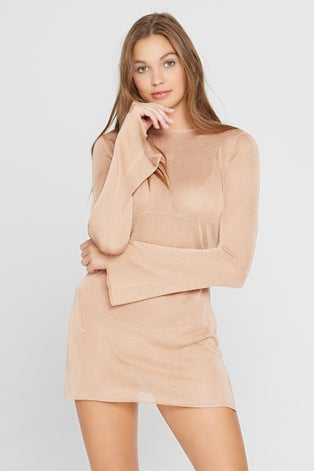 L*Space Shimmer Champagne Waloma Tunic