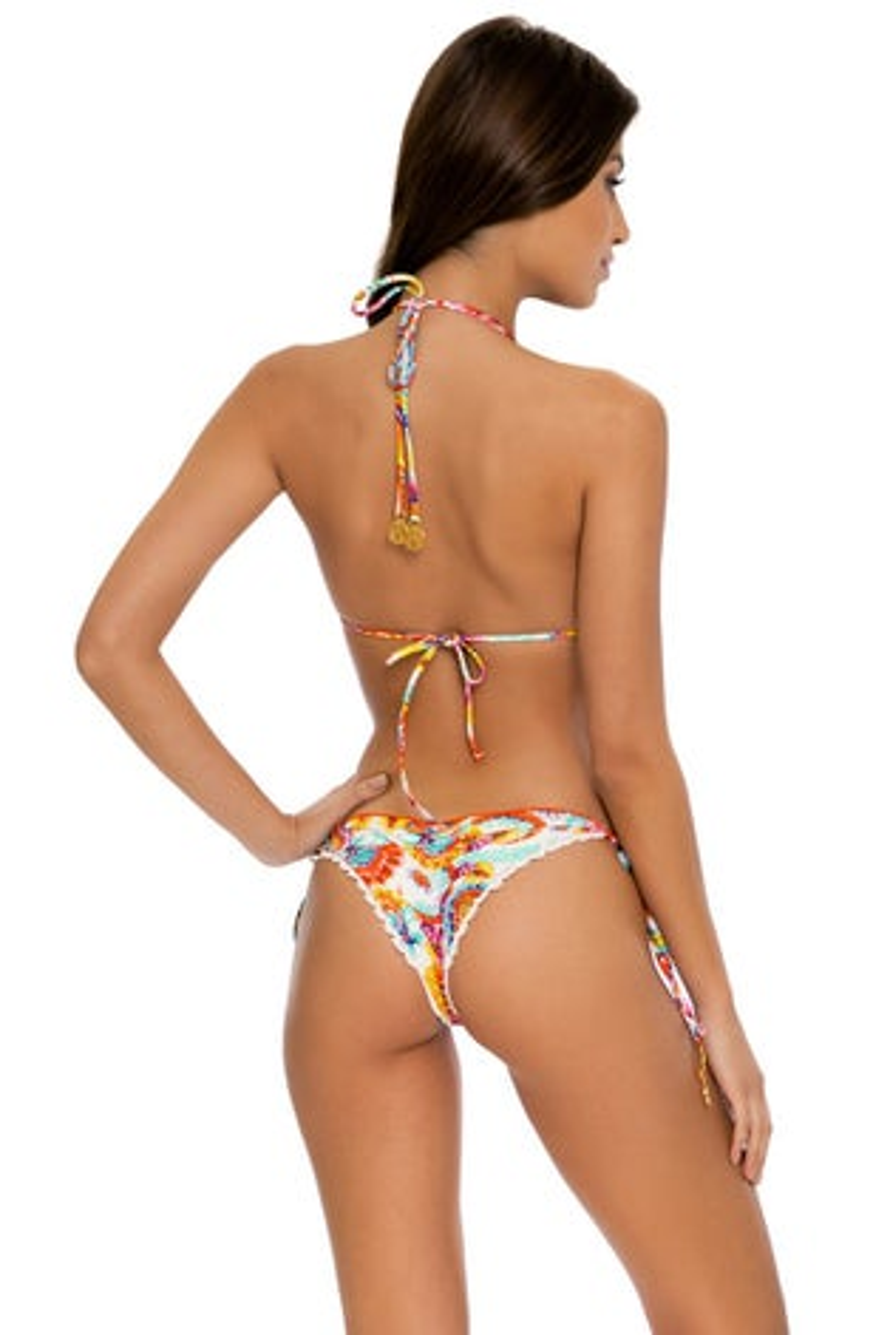 Luli Fama Summer Love Wavey Ruched Back Tie Side Bottom