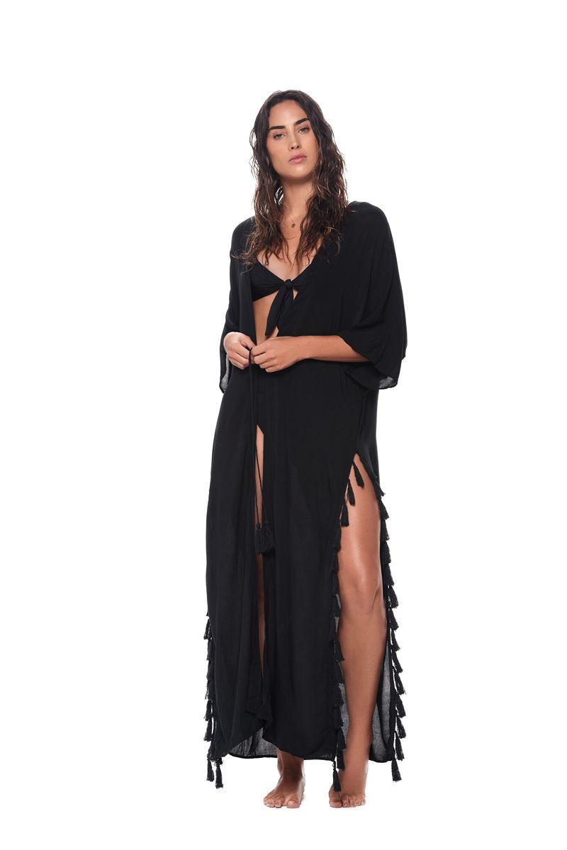 Malai Black Bit Kimono