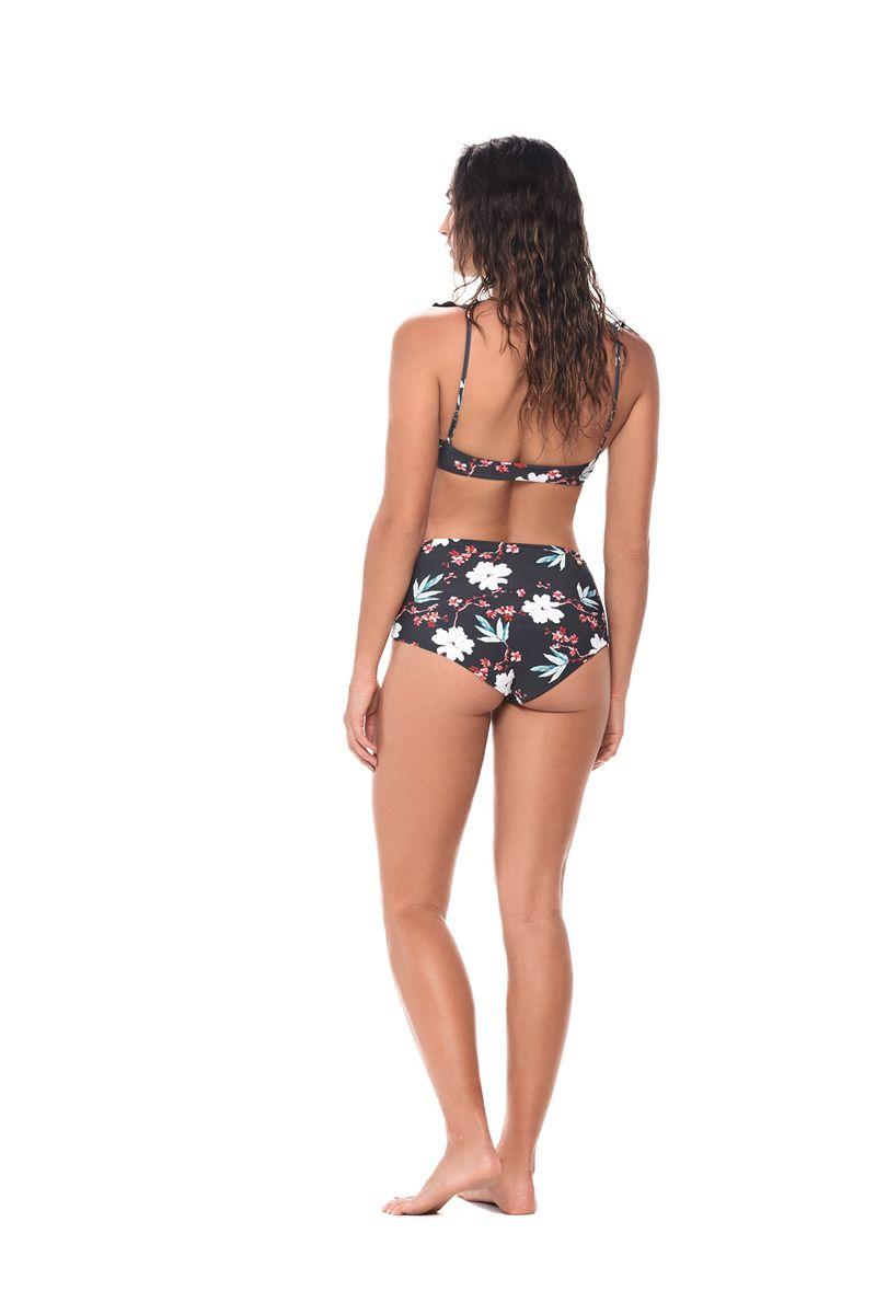 Malai Black Blossom Balearic Bikini Top