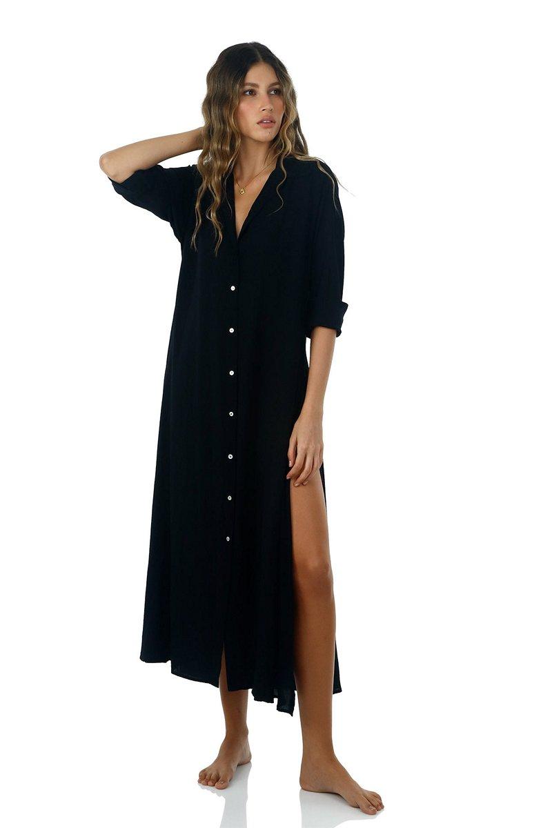 Malai Black Boho Maxi Dress