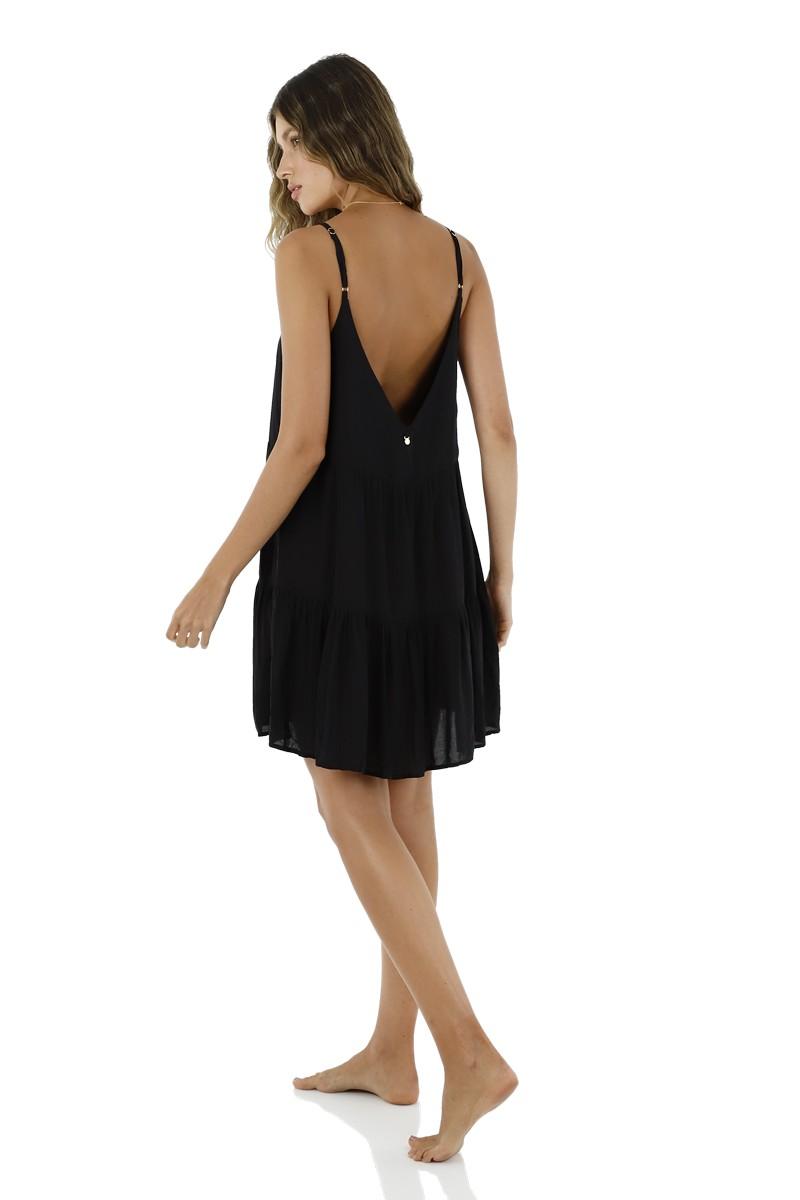 Malai Black Canesu Dress