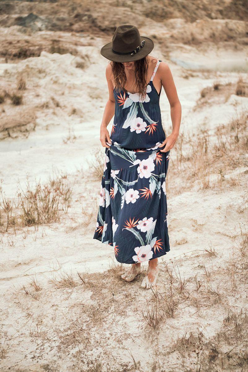 Malai Black Day Dream Camelus Maxi Dress