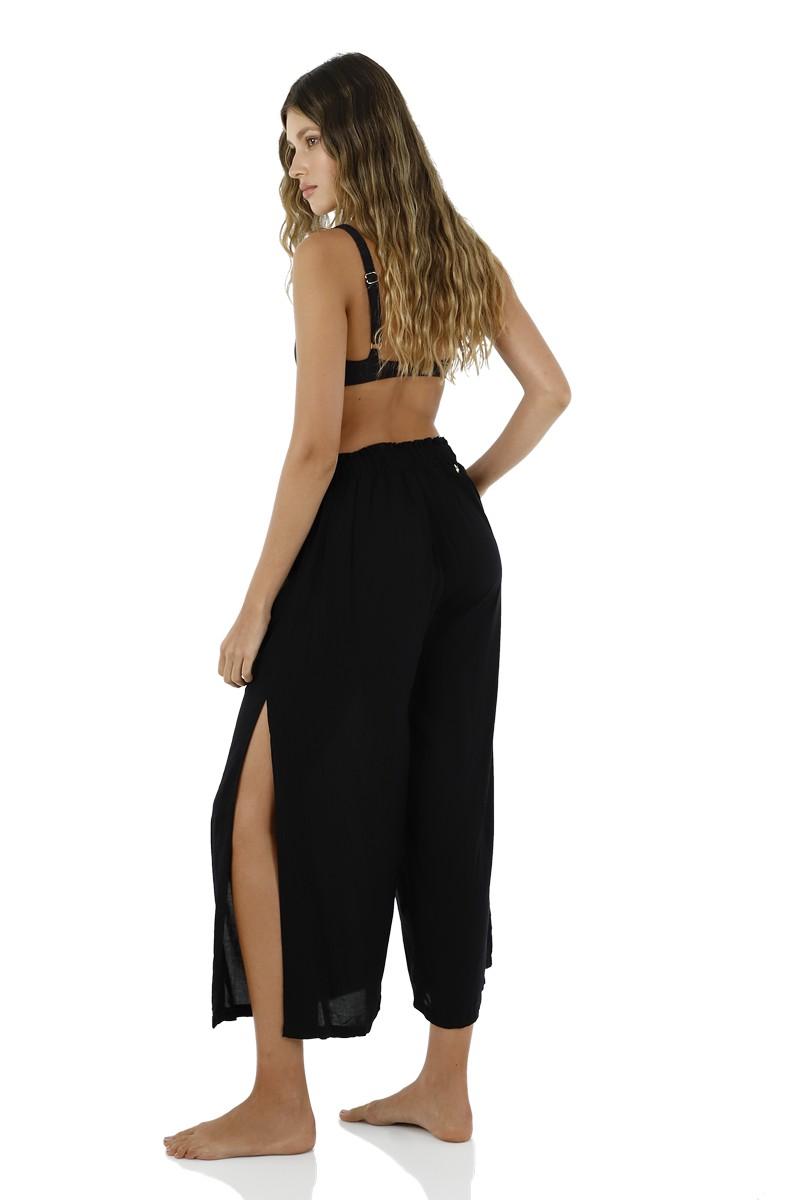 Malai Black Flowy Pants