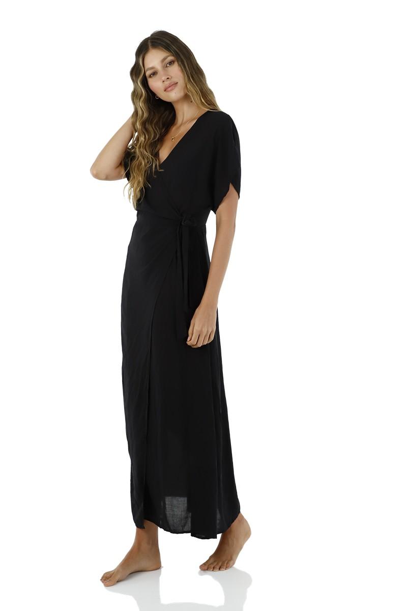 Malai Black Ivy Maxi Dress
