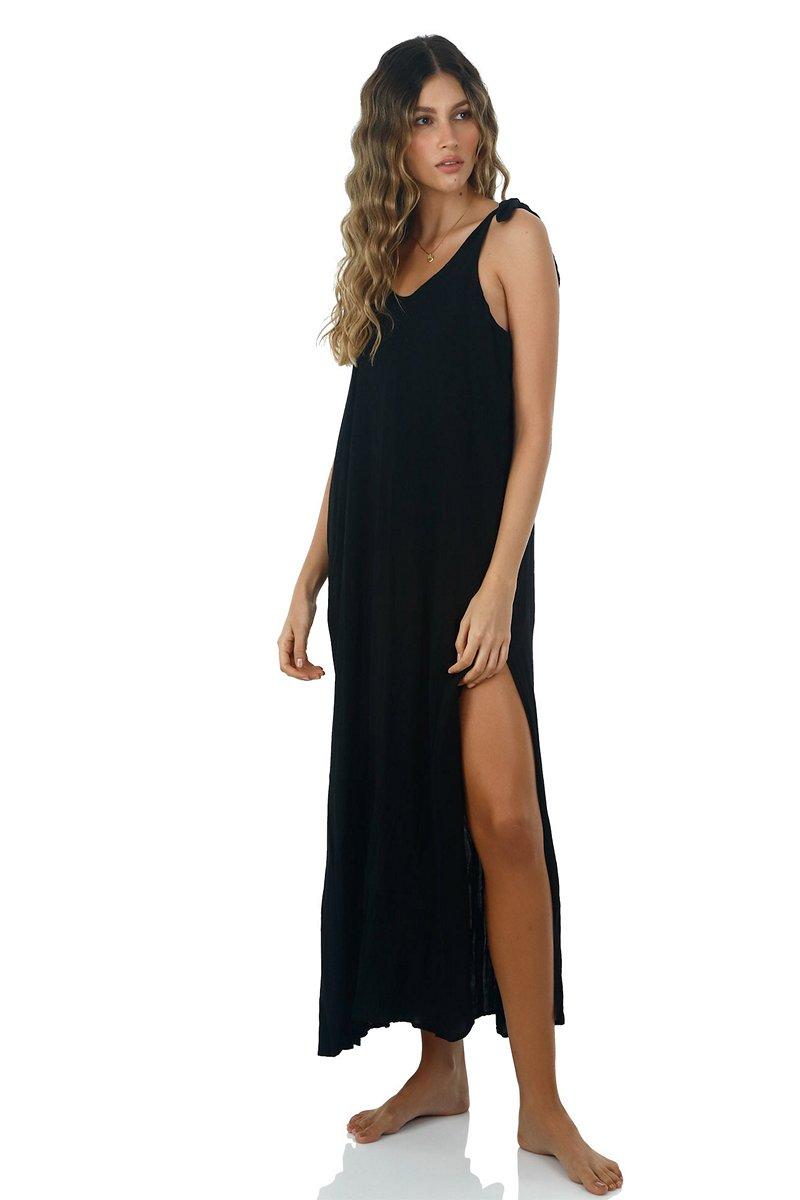 Malai Black Lightup Maxi Dress