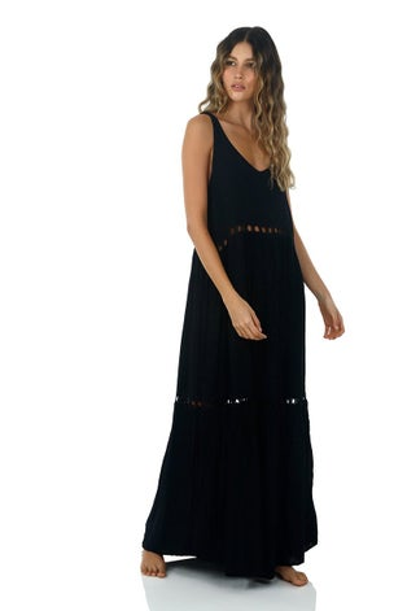 Malai Black Lovey Dovey Maxi Dress