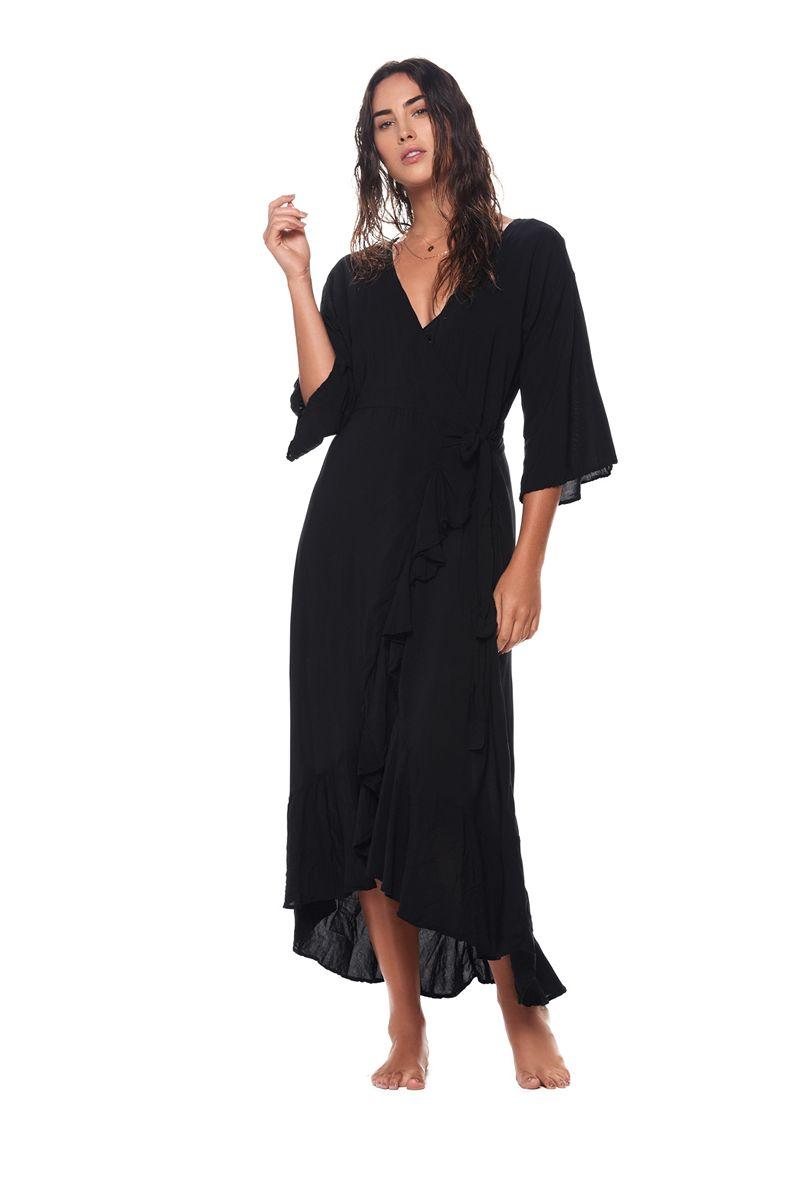 Malai Black Marigold Maxi Dress