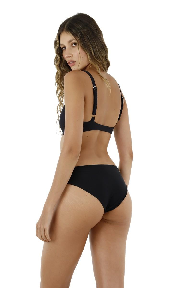 Malai Paramount Bikini Bottom in Black