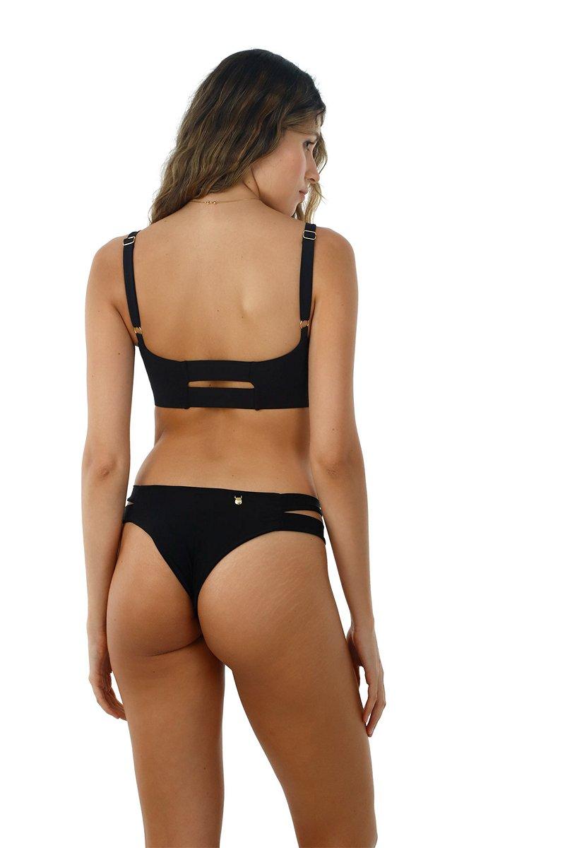 Malai  Sandy Bikini Bottom in Black