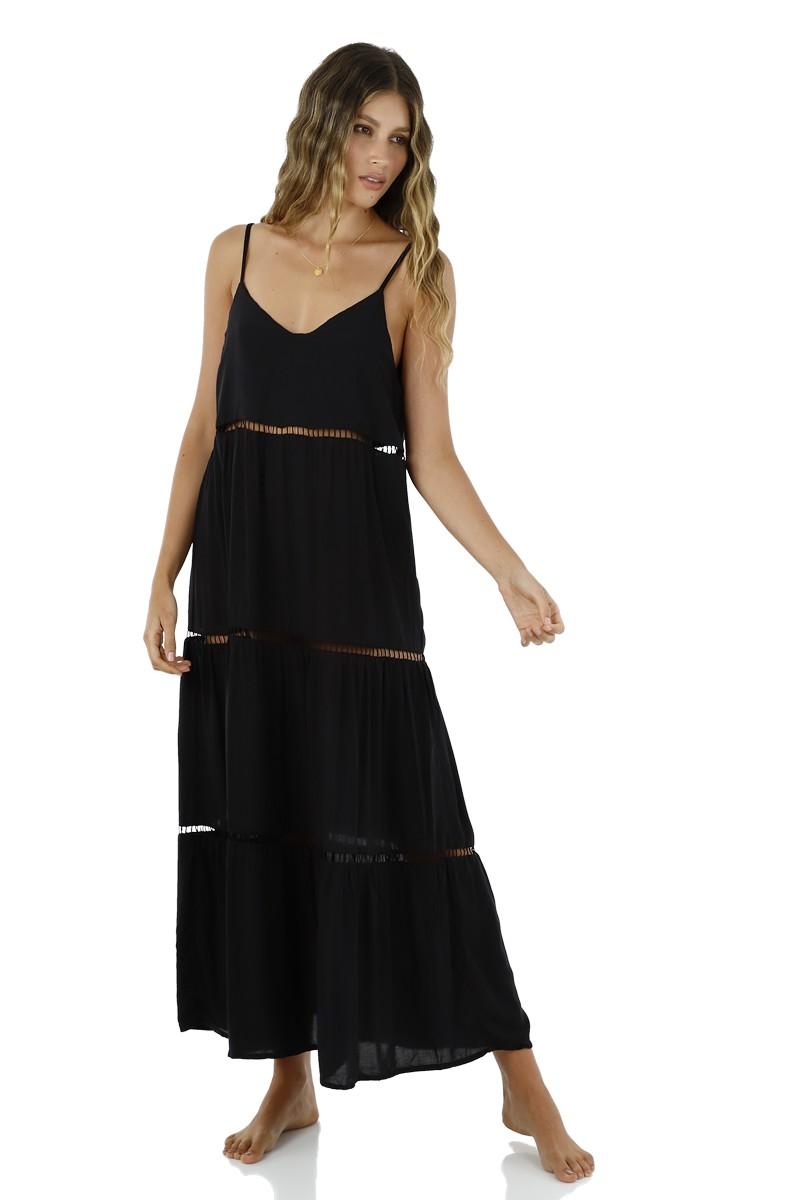 Malai Black Sink Maxi Dress