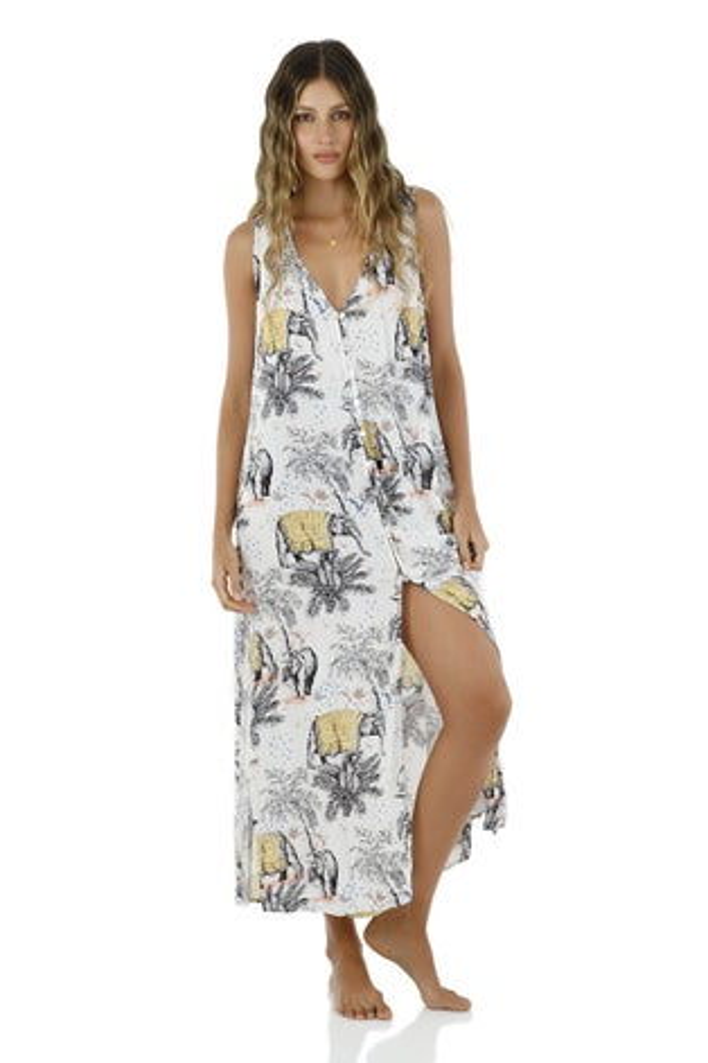 Malai Blue Indian Soul Playa Maxi Dress