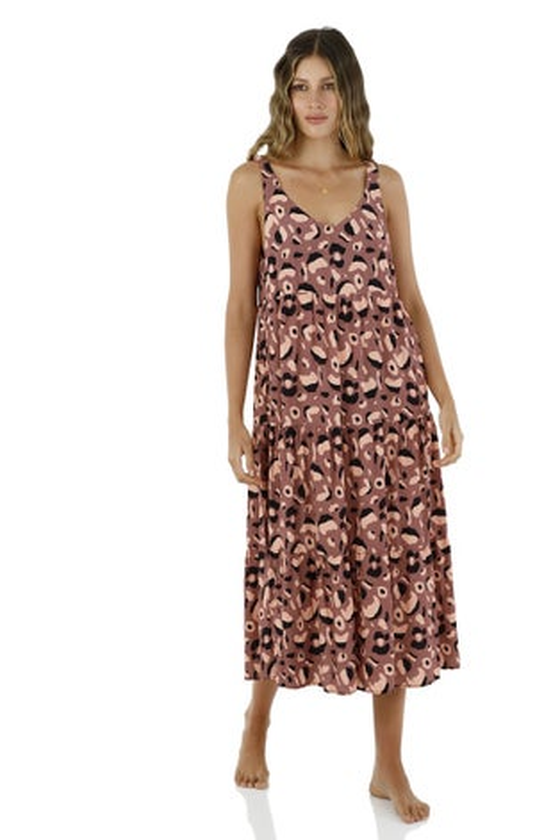 Malai Dark Africa Mia Groovy Maxi Dress