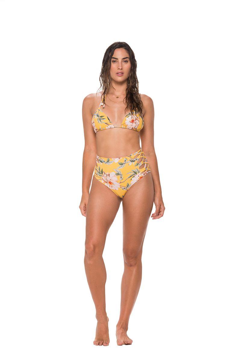 Malai Flower Flush Basal Triangle Bikini Top
