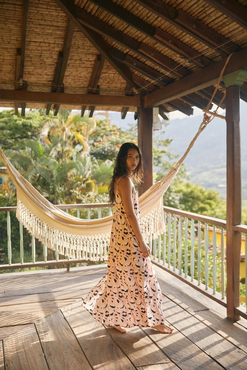 Malai Rose Africa Mia Opera Maxi Dress
