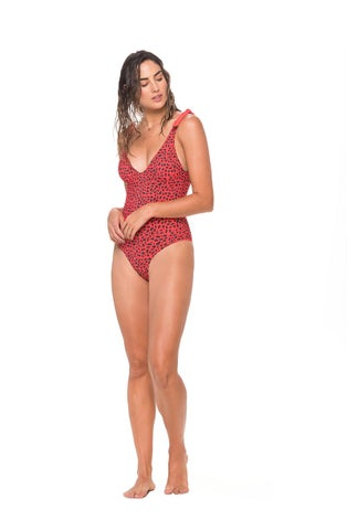 Malai Spots and Dots Lightup One Piece Swimsuit