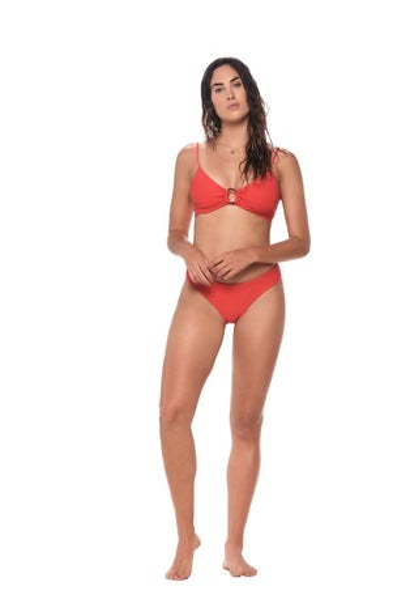 Malai Textured Morocco Red Paramount Bikini Bottom