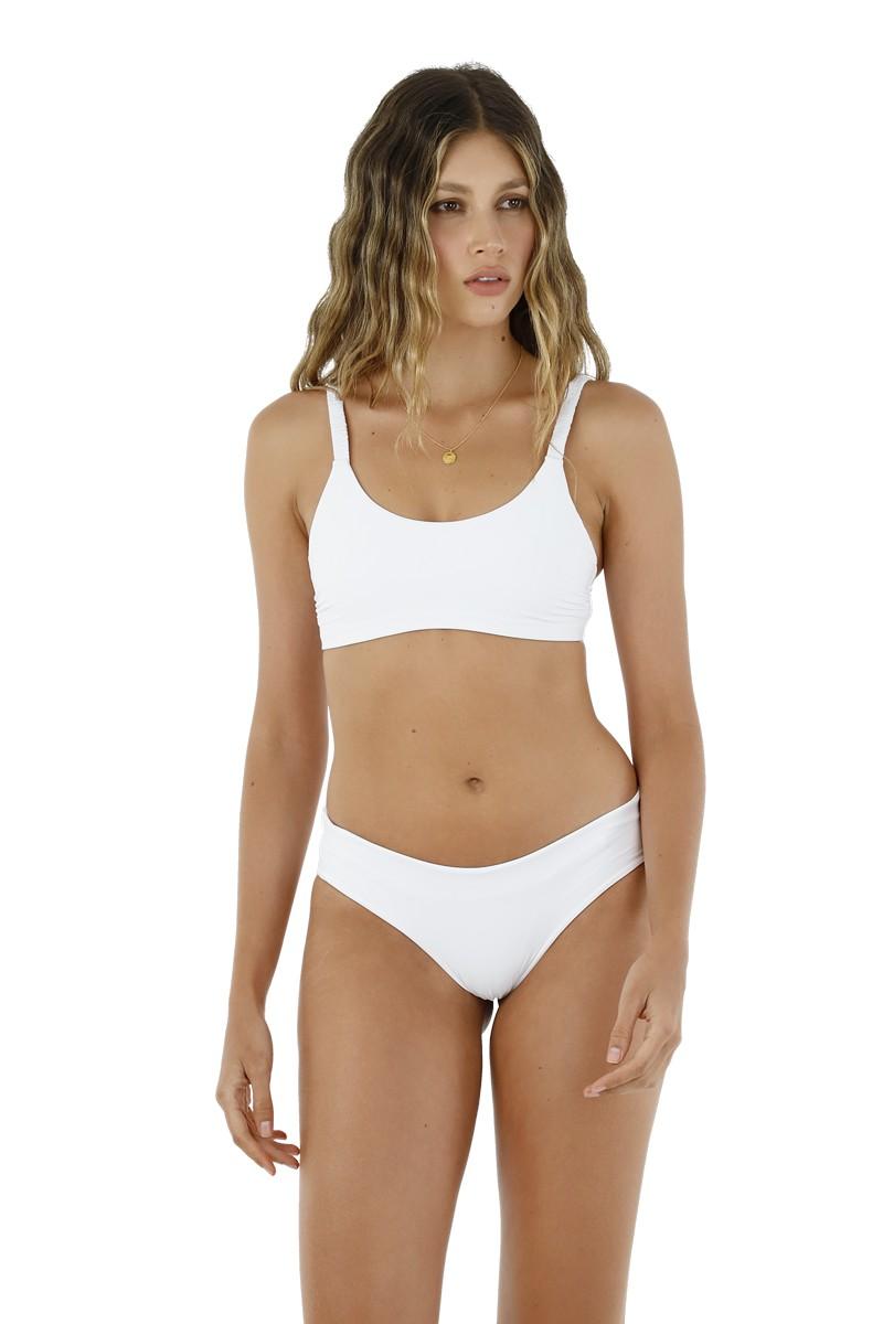 Malai White Crispy Bikini Top