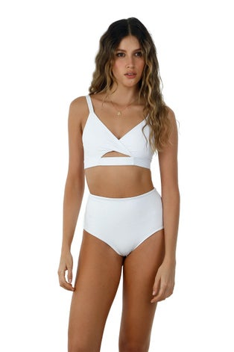 Malai White Dana Bikini Top