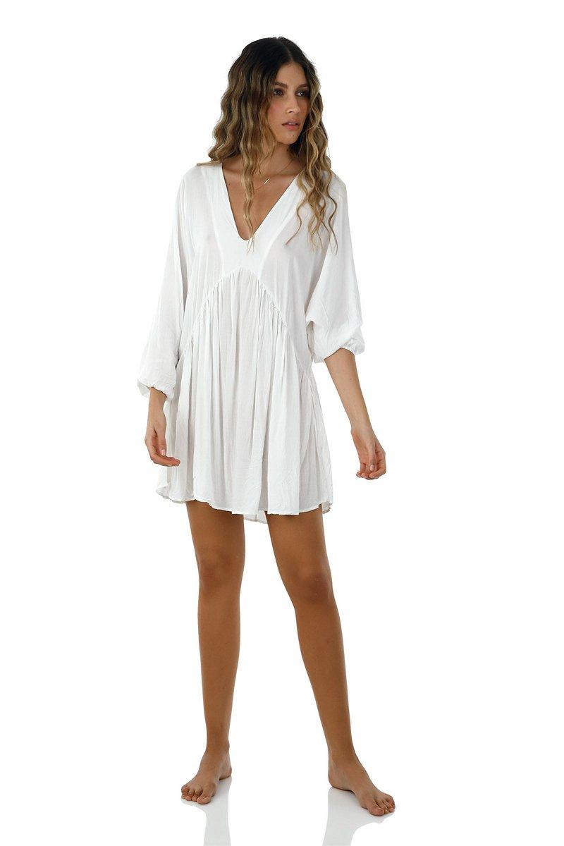 Malai White Loner Dress