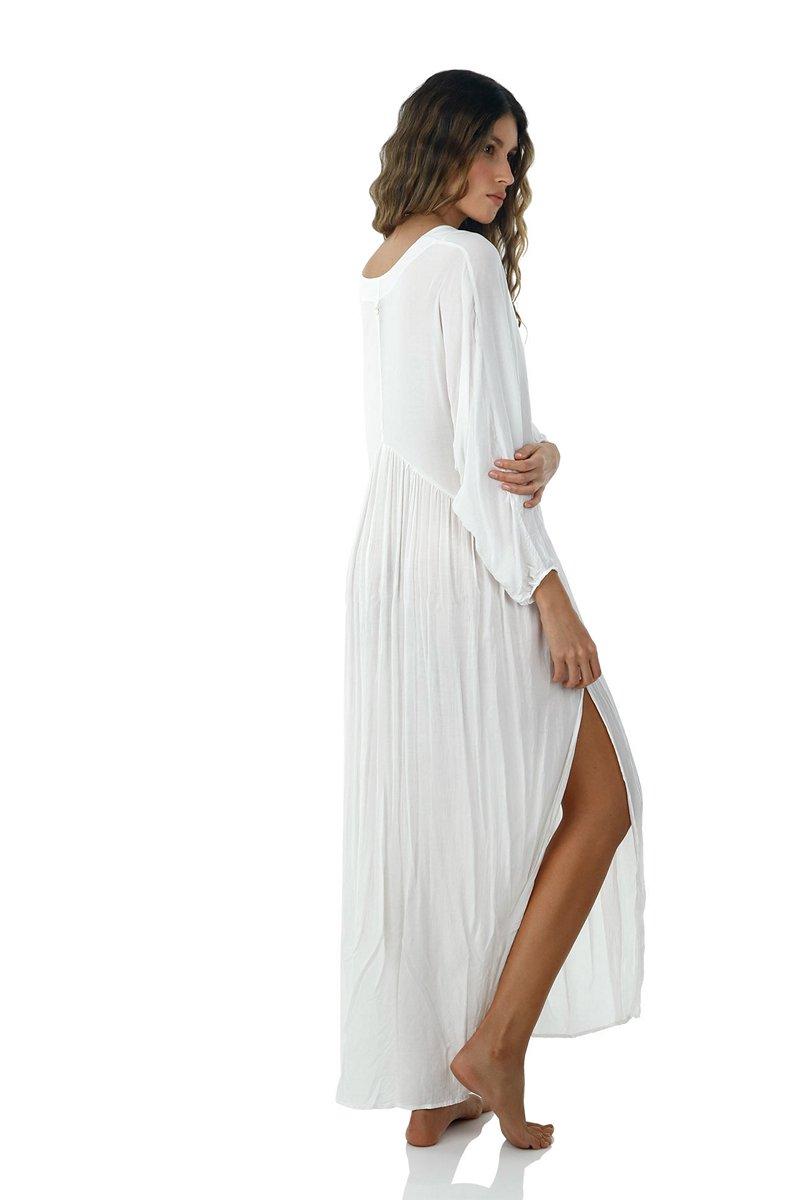 Malai White Loner Maxi Dress