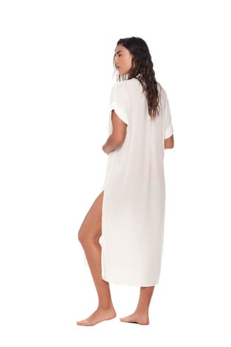 Malai White Long Island Shirt