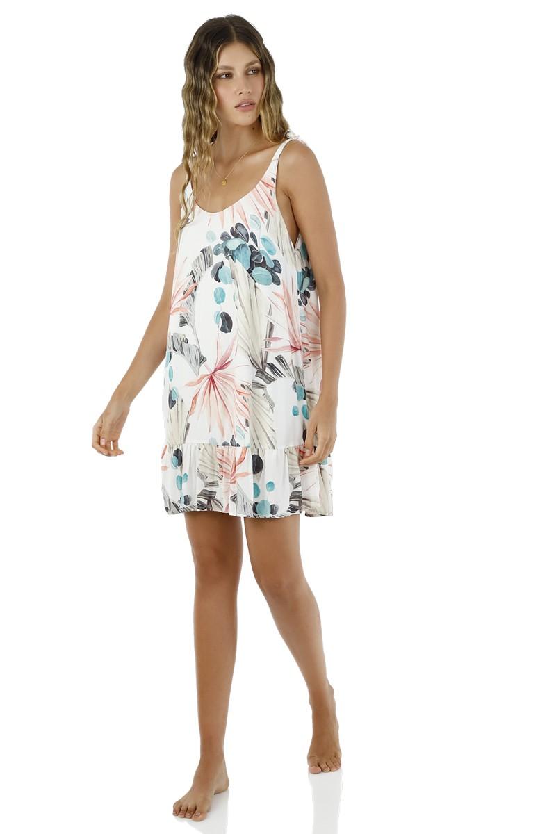Malai White Mystery Palm Lightup Dress