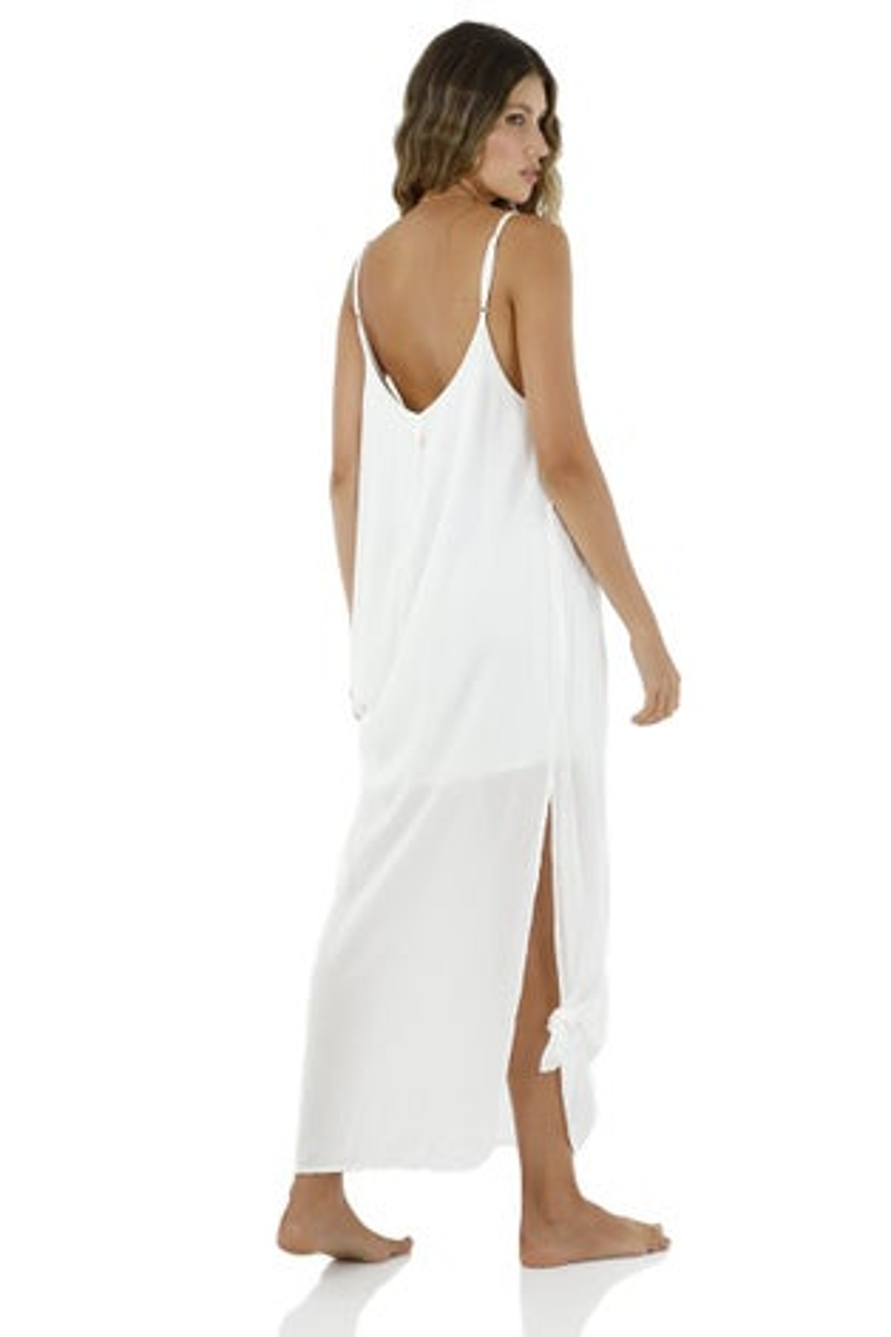 Malai White Opera Maxi Dress