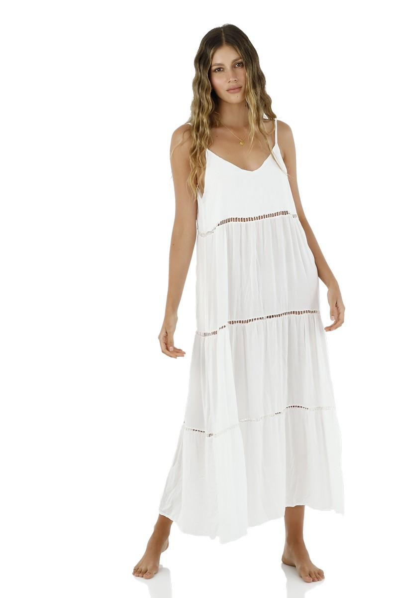 Malai White Sink Maxi Dress