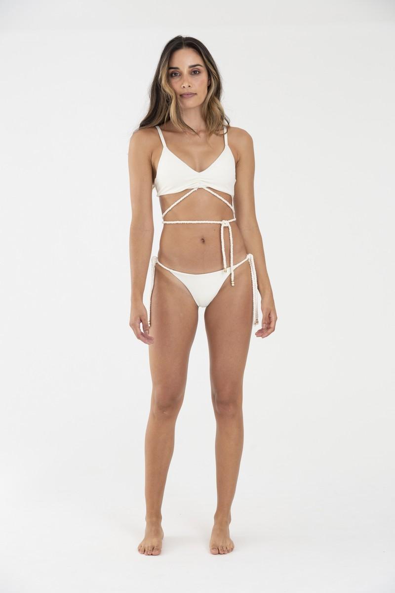 OndadeMar Wonder Viper Cream Irene Bikini Top