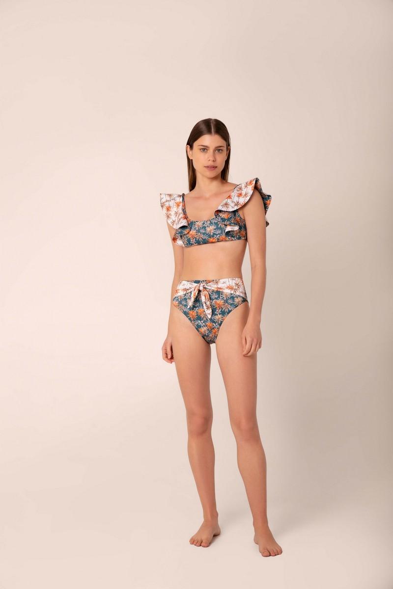 Palmacea Oasis Ruffle Bralette Bikini Top